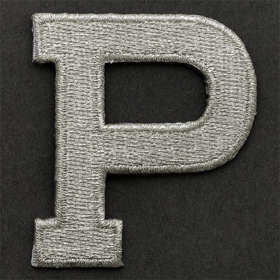 Silver Alphabet Letters: SILVER Alphabet Letter Iron-on Patch Applique - 2""