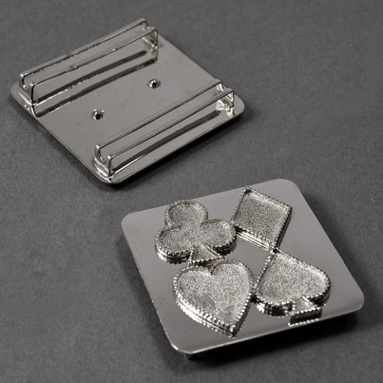Poker belt buckle