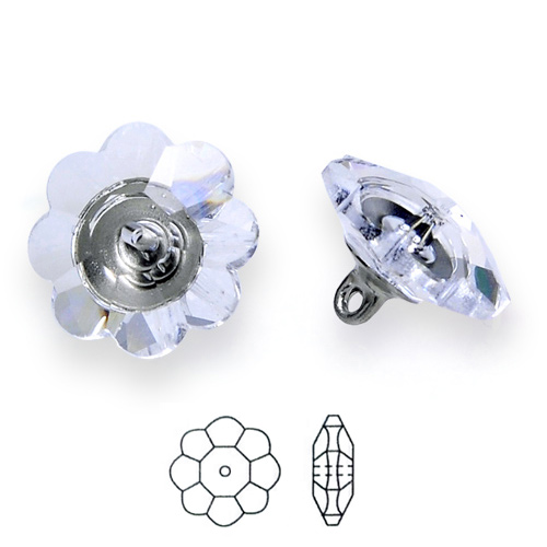 12mm swarovski 3700 margarita button with shank - Swarovski crystal buttons ...
