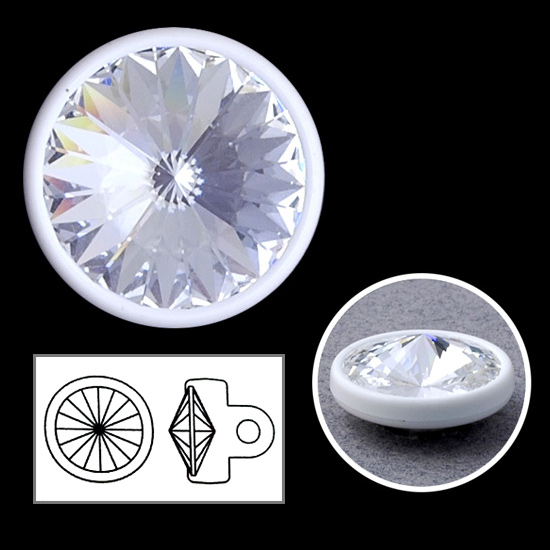 16mm swarovski crystal 1770 rhinestone button with shank - Swarovski crystal buttons ...