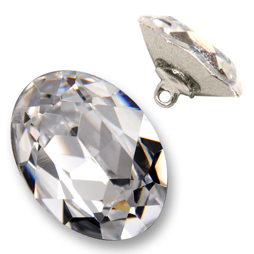 25 x 18mm swarovski rhinestone 4120 oval fancy button with - Swarovski crystal buttons ...