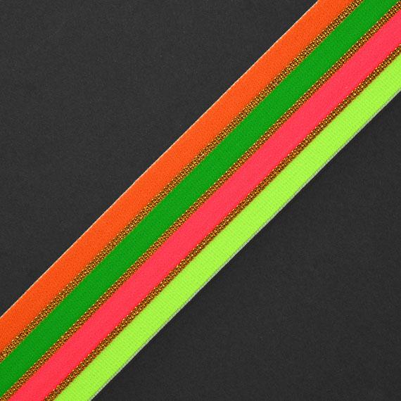 Neon Striped Elastic Stretch Ribbon Band Trim Joyce Trimming