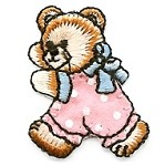 Teddy Bear Iron-On Applique Patch by PC, PA-IA-T02597