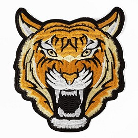 Tiger Embroidered Iron-On Applique Patch by PC, TR-11300