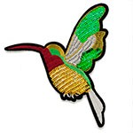 Bird Embroidered Sequin Iron-On Patch, Embroidery Applique by pc, TR-11427