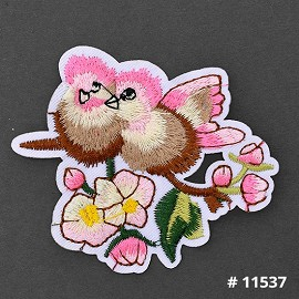 Bird Embroidered Iron-On Applique Patch by 1 PC, TR-11537