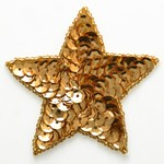 Star Shape Beaded Sequin Patch Applique by PC, FF-550
