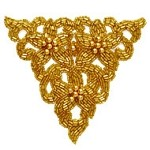 Beaded Applique Patch by PC, FF-FF753
