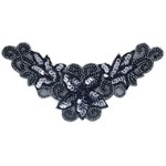 Pearls Sequin Beaded Neckline Applique Patch by PC, FF-V272