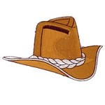 Cowboy Hat Iron-on Applique Patch by PC, PA-IA-T04869
