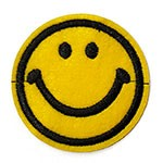 Smile Embroidered Iron-On Applique Patch, Embroidery Patch by pc, TR-11439