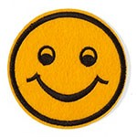 Smile Embroidered Iron-On Applique Patch, Embroidery Patch by pc, TR-11442