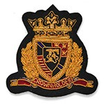 Gold Bullion Wire Embroidered Badges, Sew-on Applique Patch by PC, OSB-25241