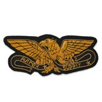 Eagle Bullion Wire Embroidered Sew-on Crest Badge Applique Patch  by PC, OSB-25242