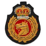Bullion Wire Embroidered Sew-on Badge Applique Patch by PC, OSB-25245