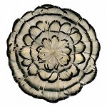 Natural White-Black-Pheasant Medallion Feather Pad Applique Patch by PC, TFP-PM5130W_BL