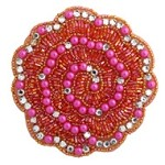 Rhinestones, Pearls & Beaded Applique Patch by PC, FF-J06-178