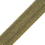 20mm Metallic Twilled Ribbon Trim by yard, STEP-137