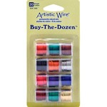 Artistic Wire Assortments by 12 spools, BEDA-AWP-20-BTD