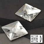 22mm Crystal Squre Sew-on Stone by PC, DON-3068