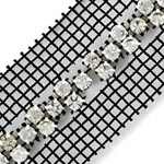 SS 20 Machine-cut Rhinestone Banding Trim by Yard, RBD-110