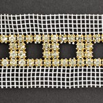 SS 20 Machine-cut Rhinestone Banding Trim by Yard, RBD-111