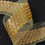 30mm Metallic Sequin and Thread Trim by Yard, SMB-MM1018