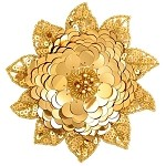 Beaded Sequin Flower Applique by PC, FF-J06-084