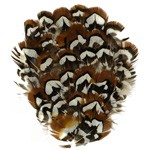 Natural Pheasant Feather Pad Applique Patch by PC, TFP-P5150