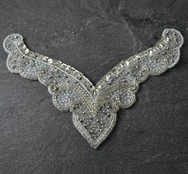 Rhinestone, Sequins & Beaded Applique Patch by PC, FF-VCO1-001