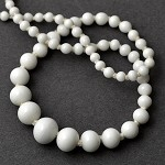 Assorted Sizes Japanese White glass Beads, Approx. 65pcs, SP-2255