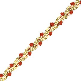 Metallic Braid Trim by yard, AAA-D1352