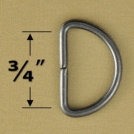 Metal D-Ring Buckle by 4pcs, GN-2030