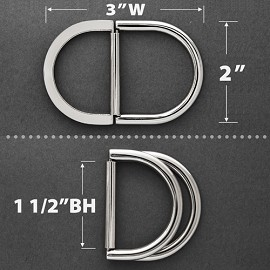 "2"" Metal D-Ring Buckle, TR-10278L"
