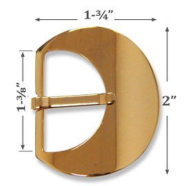 "2"" Metal Buckle by pc, A9905"