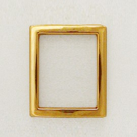 "7/8"" Rectangle Metal Ornament, A7643-9"