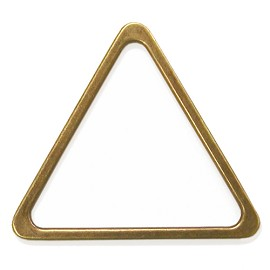 "2-1/16"" Triangle Metal Ornament, A7919-1"