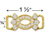 Rhinestone Buckle Connector by pc, T1528