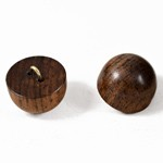 15mm Wood Dome Button Shank Back, MAY-WB-3995