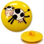 Plastic Cow Button with Shank, W2701/2/3/4