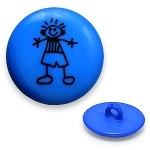 Boy Plastic Button with Shank, DIL-211428