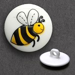 Bee Plastic Button with Shank by each, DIL-231384