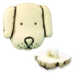 Plastic Dog-Face Button with Shank, REN-CR-734104