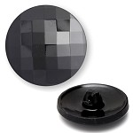 Glass Chessboard Round Button with Shank, BEA-G8626