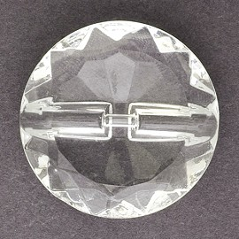 Glass Round Button with Shank, BEA-G8848