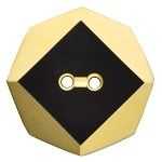 2-Hole Glass Octagon Button, BEA-G8945