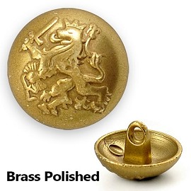 Metal Lion Crest Blazer Button with Shank, BEA-21154