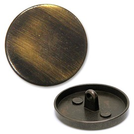 Antique Brass Brushed Button with Shank, BON-10043