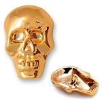 Skull Metal Button with Shank, TR-10599