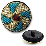 Passementerie Bullion Button with Shank by pc, BN014505